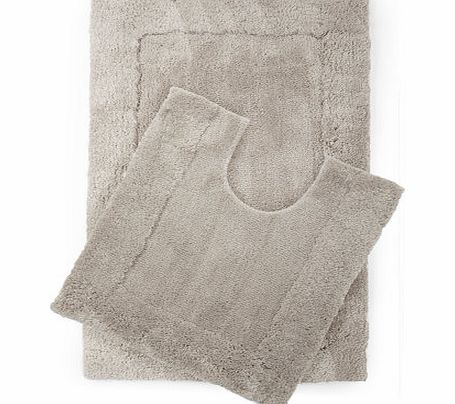 Soft grey premium Easycare bath mat, cloud