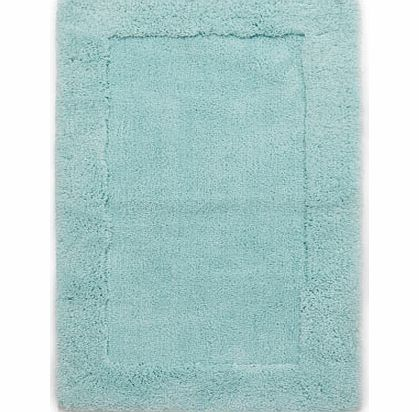 Soft turquoise premium Easycare bath mat, light
