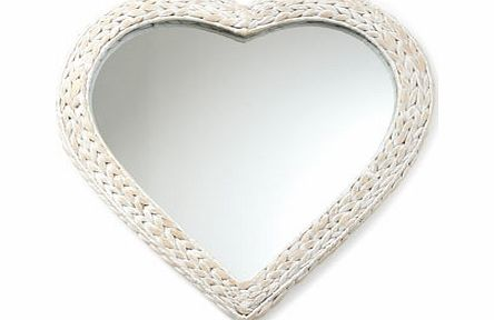Bhs White Heart Water Hyacinth Mirror White Review