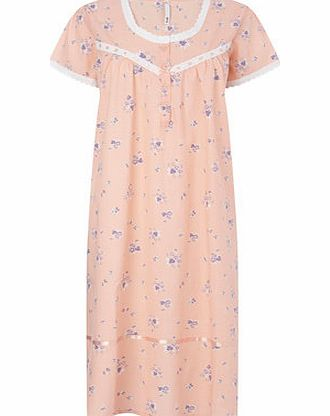 Bhs Womens Peach Woven Nightdress, peach 728157313 product image