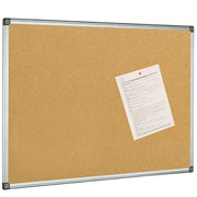 aluminium frame Display your announcements memos and schedules where everyone can see them with this classic aluminium-framed cork bulletin board from Bi-Office. Made from natural cork the surface of this bulletin board is highly resilient and will r - CLICK FOR MORE INFORMATION