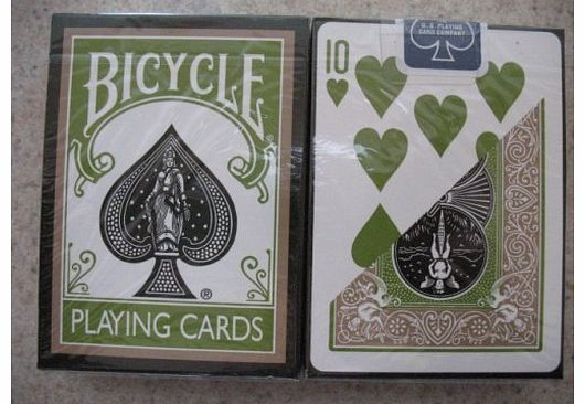 Bicycle New Rare Deck Bicycle Rejuvenate Olive Gold Playing Cards product image