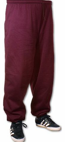 Big Tee Shirt Big Mens Burgundy BTS 33 Inch IL Joggers (Elasticated Ankle) 2xl to 8xl, Size : 4XL