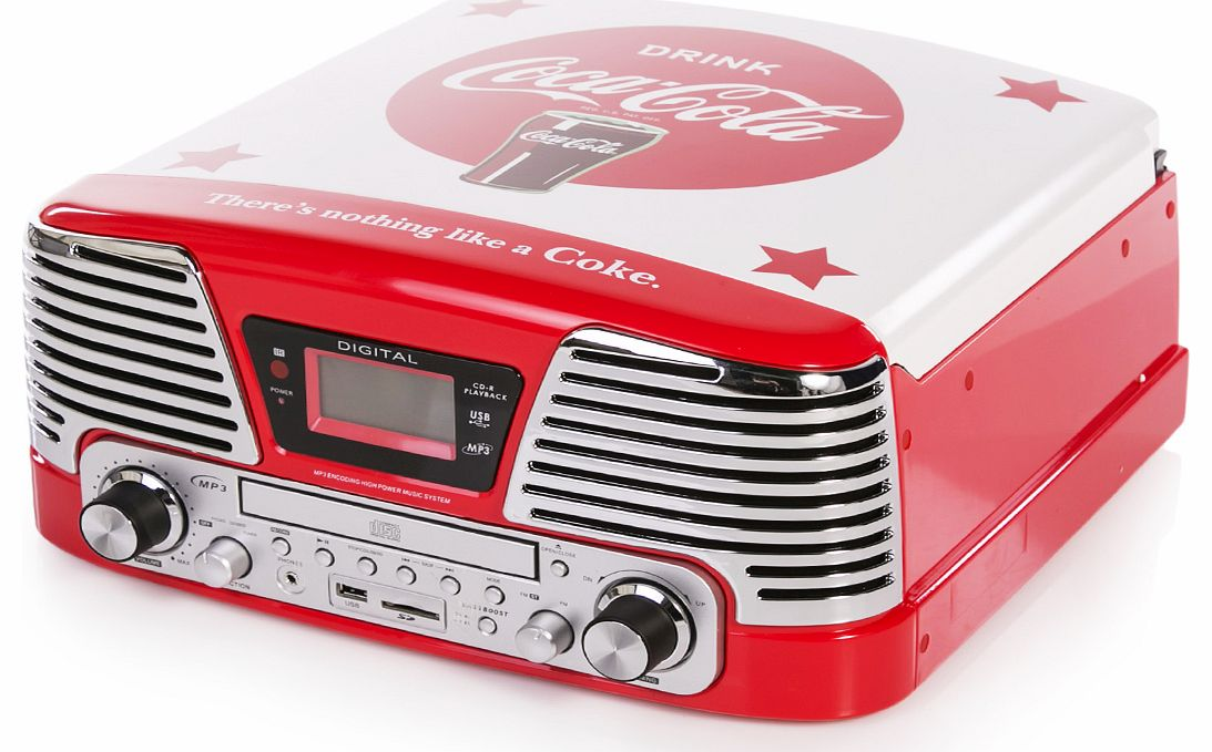 BigBen Classic Coca-Cola Vinyl CD MP3 USB SD Radio