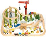 Bigjigs Toys Construction Train Set (114 Piece)
