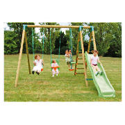 Bilbao Wooden Slide and Swing Set product image