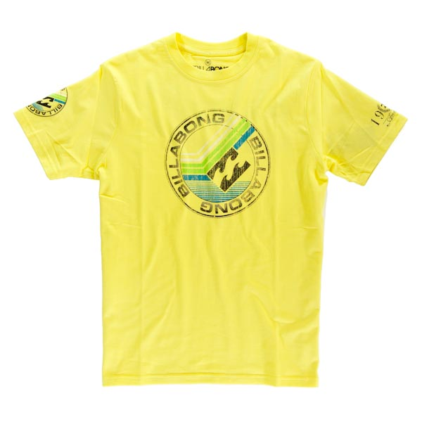 Billabong T-Shirt - Trail - Yellow G1SS15