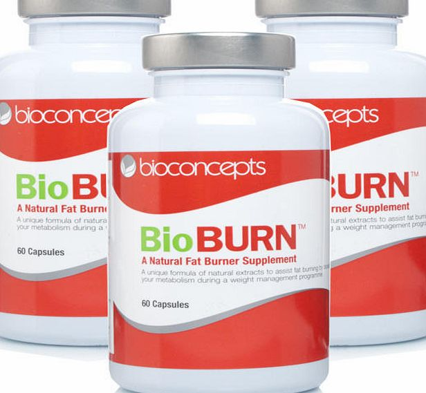 BioBURN Natural Food Supplement Triple Pack