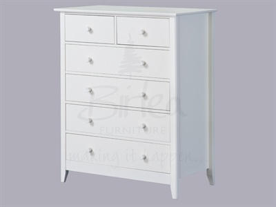 Birlea Cotswold 4+2 Drawer Chest White Small Single product image