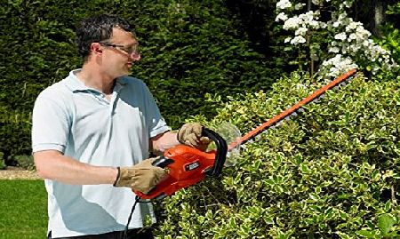 BLACK DECKER Black amp; Decker GT6060 600W 60cm Hedgetrimmer/ 25mm Blade Gap/ Bale Handle Design/ Cable Management