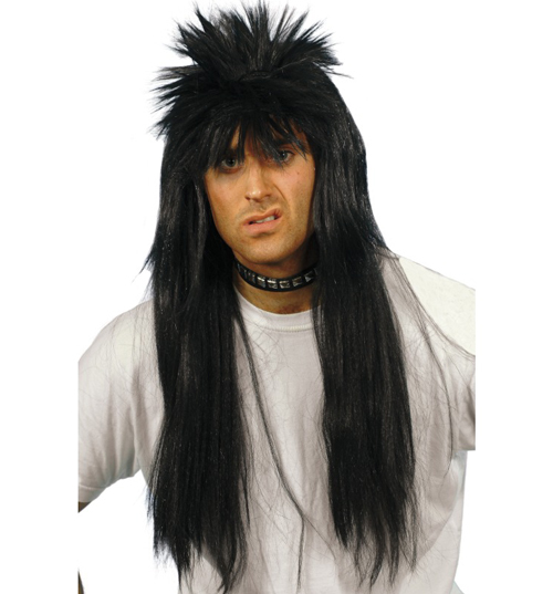 Black Punky Eighties Wig product image