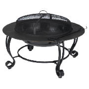 Round Fire Pit with Pattern Surround