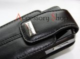 Blackberry Genuine Blackberry 8100 Pearl Leather Pouch In Black With Battery Saving...