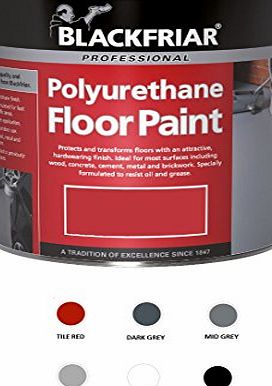 Blackfriar Polyurethane Floor Paint for Indoor Outdoor Use 5L Dark Grey