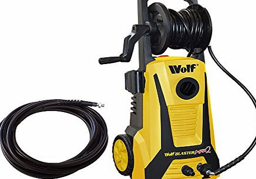 Blaster Max 2 Wolf Blaster Max 2 Pro Power Pressure Washer 2200 Watt 165BAR Pump With New Click and Connect System Plus Accessories Including Patio Cleaner, Car Brush, 5m High Pressure Hose, 1 x 1L Safari Vehicle C