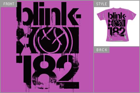 Blink 182 (Three Bars) Skinny T-Shirt
