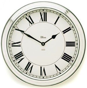 Bliss Large Roman Aluminium Clock Wall Clock review