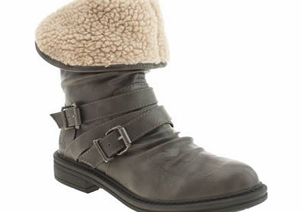 blowfish Grey Fairview Shearling Boots