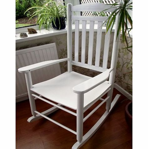 Blu-Stone NEW TRADITIONAL FARMHOUSE STYLE WHITE ROCKING CHAIR LIVING BED ROOM CONSERVATORY product image