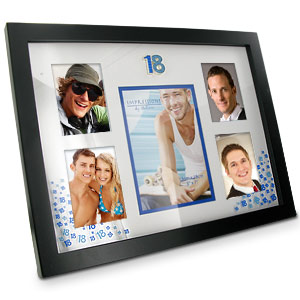 Blue 18th Birthday Collage Photo Frame product image
