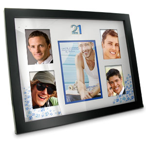 Blue 21st Birthday Collage Photo Frame product image