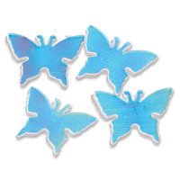 iridescent butterfly confetti