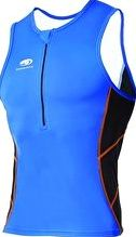 Blueseventy, 1294[^]246021 Mens TX1000 Singlet - Blue and White
