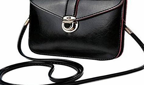 Bluester Fashion Zero Purse Bag Leather Handbag Single Shoulder Messenger Phone Bag (Black)