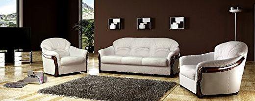 Bmf siena three 3 piece faux leather sofa bed suite good for Sofa bed 3 piece suite