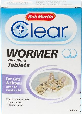 Bob Martin, 2102[^]0138941 Cat Wormer Tablets