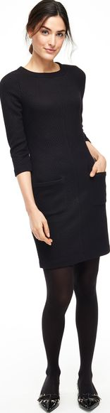 Boden, 1669[^]35146166 Abigail Jacquard Tunic Work Dress Black Boden,