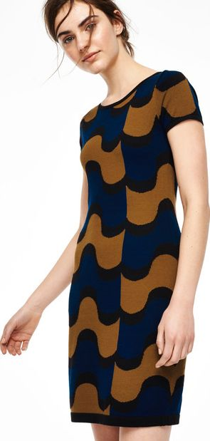 Boden, 1669[^]35110600 Abigail Tunic Party Dress Tobacco/Navy Boden,