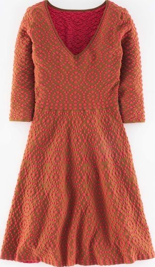 Boden, 1669[^]35214097 Annabel Party Dress Gingerbread/Coral Reef