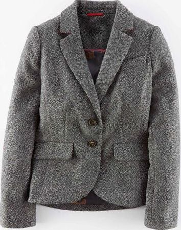 Boden, 1669[^]35080563 British Tweed Blazer Grey Herringbone Boden,