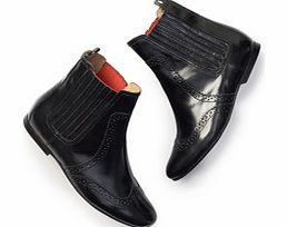 Boden Brogued Chelsea Boot, Black 34215640