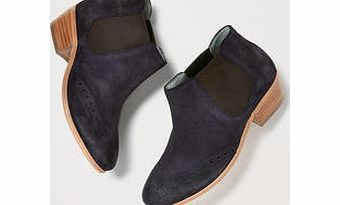 Boden Brogued Chelsea Boot, Blue,Silver,Driftwood