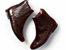 Boden Brogued Chelsea Boot, Claret 34215806