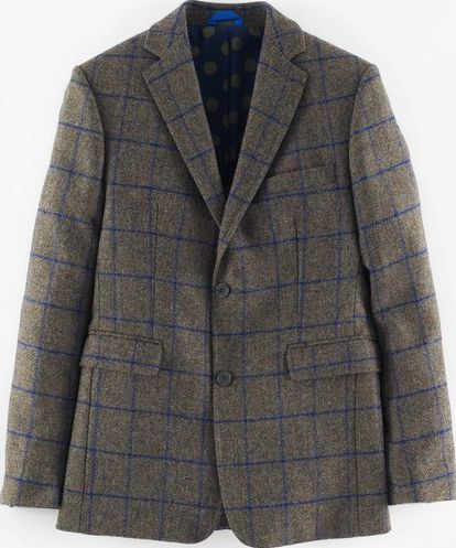Boden, 1669[^]34933523 Brompton British Tweed Jacket Khaki Windowpane