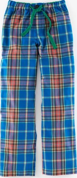 Boden, 1669[^]34937466 Brushed Cotton Pull-ons Blue Tartan Boden, Blue
