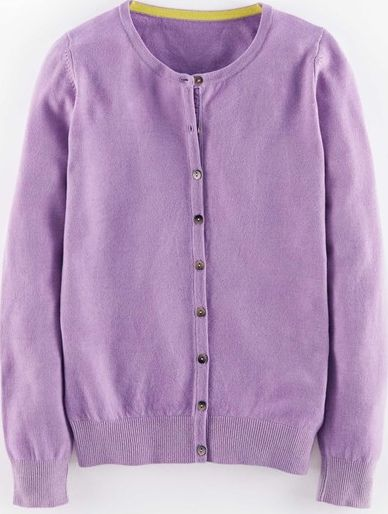 Boden, 1669[^]35115096 Cashmere Crew Neck Cardigan Formica Lilac Boden,