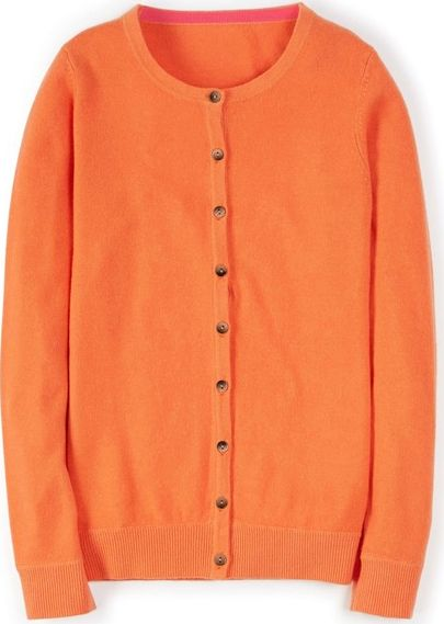 Boden, 1669[^]34695916 Cashmere Crew Neck Cardigan Orange Boden, Orange