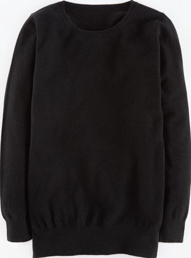 Boden, 1669[^]35054550 Cashmere Relaxed Crew Neck Black Boden, Black