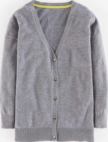 Boden, 1669[^]35221134 Cashmere Relaxed V Cardigan Grey Boden, Grey