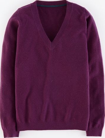 Boden, 1669[^]35193028 Cashmere V-neck Jumper Elderberry Boden,