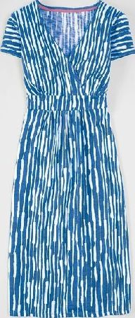 Boden, 1669[^]34818732 Casual Jersey Work Dress Porcelain Blue Stripe