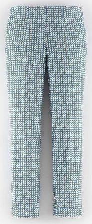 Boden, 1669[^]35136076 Chelsea Turn-Up Trousers Steel Blue Tile Print