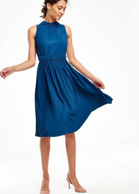 Boden, 1669[^]35076017 Chic Full Skirted Party Dress Galaxy Blue Boden,
