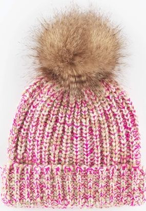 Boden, 1669[^]35152420 Chunky Knit Hat Agate/Pop Pink Boden, Agate/Pop
