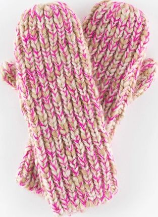 Boden, 1669[^]35152974 Chunky Knit Mittens Agate/Pop Pink Boden,