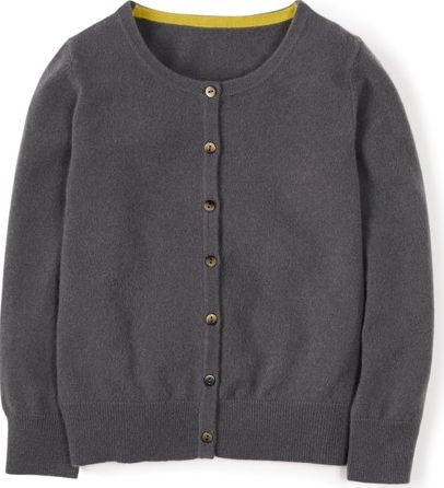 Boden, 1669[^]34698209 Cropped Cashmere Cardigan Grey Boden, Grey
